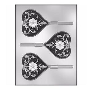 Fancy Heart Lollipop Mold | www.bakerspartyshop.com