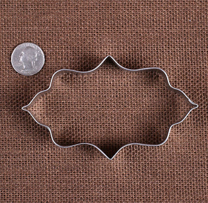 Elongated Fancy Plaque Cookie Cutter | www.bakerspartyshop.com