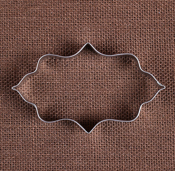 Elongated Fancy Plaque Cookie Cutter Biscuit Cutter The