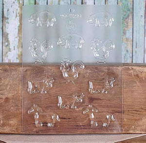Farm Animals Chocolate Mold | www.bakerspartyshop.com