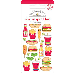 Glossy Perfect Combo Stickers: Fast Food | www.bakerspartyshop.com