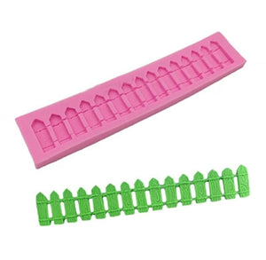 Silicone Fence Mold: Fondant + Chocolate | www.bakerspartyshop.com