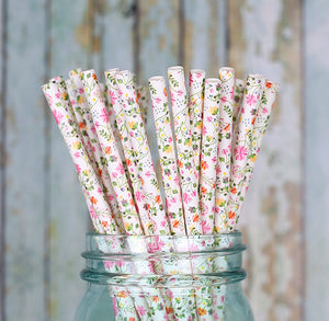 Ditsy Floral Paper Straws | www.bakerspartyshop.com