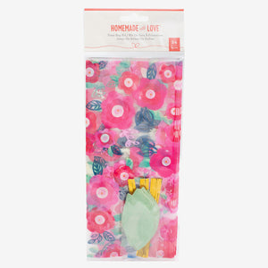 Floral Treat Bags Kit: Pink | www.bakerspartyshop.com