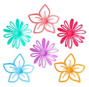 Flower Cake Toppers: Set of 6 | www.bakerspartyshop.com