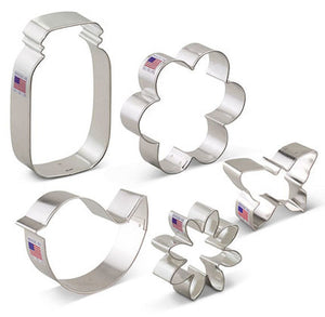 Flower Garden Cookie Cutters Set | www.bakerspartyshop.com