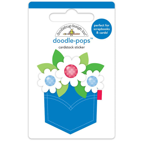 Large Patriotic Flowers Sticker | www.bakerspartyshop.com