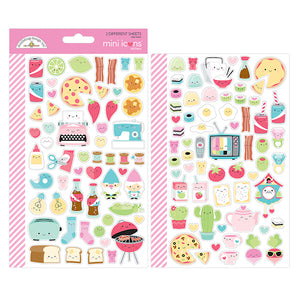 Mini Icons Foodie Stickers | www.bakerspartyshop.com