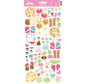 Doodlebug Foodie Stickers | www.bakerspartyshop.com