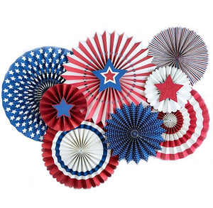 Patriotic Party Fans | www.bakerspartyshop.com