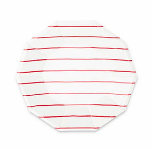 Striped Red Plates: Large | www.bakerspartyshop.com
