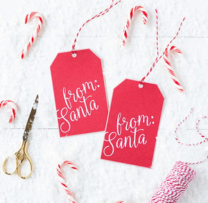 From Santa Gift Tags | www.bakerspartyshop.com