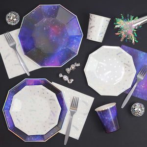 Large Galaxy Plates | www.bakerspartyshop.com