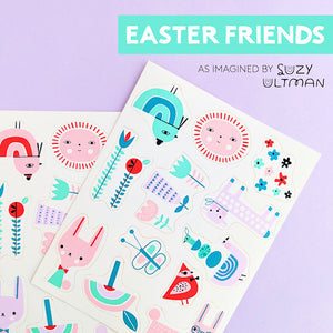 Stickies™ Spring Edible Stickers: Easter Friends | www.bakerspartyshop.com