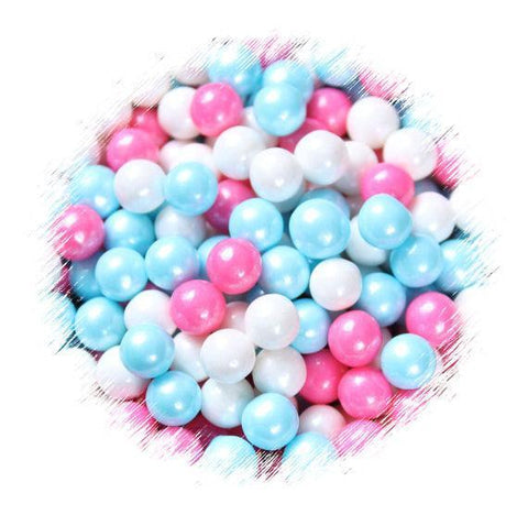 Gender Reveal Sugar Pearls: 7mm | www.bakerspartyshop.com