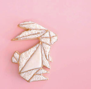 Designer Geometric Bunny Cookie Cutter | www.bakerspartyshop.com