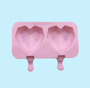Heart Cakesicle Mold: Geometric | www.bakerspartyshop.com
