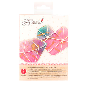 Sweet Sugarbelle Geometric Heart and Diamond Cookie Cutter Set | www.bakerspartyshop.com