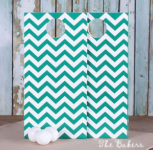 Green Gift Bags: Chevron | www.bakerspartyshop.com