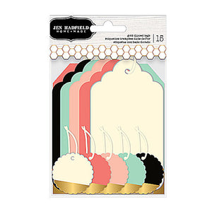 Gold Dipped Multicolored Gift Tags | www.bakerspartyshop.com