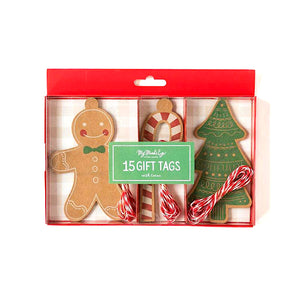 Christmas Gift Tags: Gingerbread | www.bakerspartyshop.com