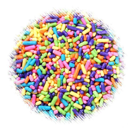 Bright Rainbow Jimmies Sprinkles | www.bakerspartyshop.com
