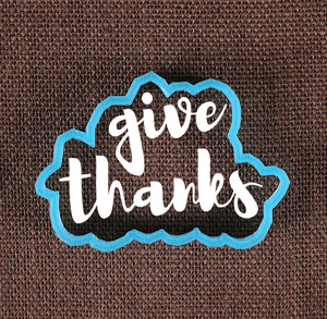 Designer Give Thanks Cookie Cutter | www.bakerspartyshop.com