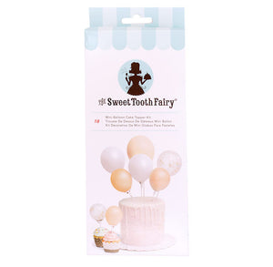 Sweet Tooth Fairy Mini Balloon Cake Topper Kit: Gold | www.bakerspartyshop.com