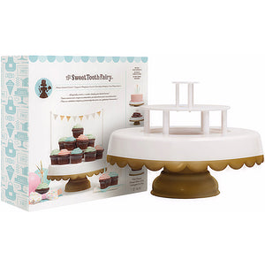 Sweet Tooth Fairy Cake Stand: Gold Tipped | www.bakerspartyshop.com