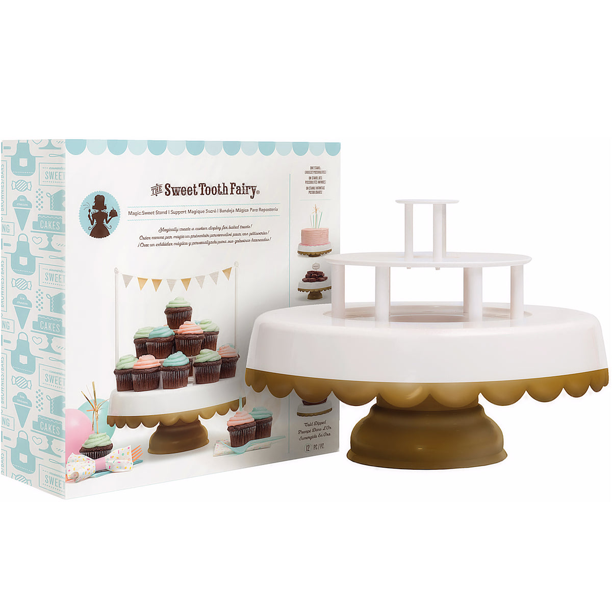 Sweet Tooth Fairy Cake Stand Gold Tipped Gold Cake Stand