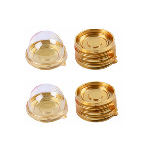 Gold Candy Box with  Domed Lid | www.bakerspartyshop.com