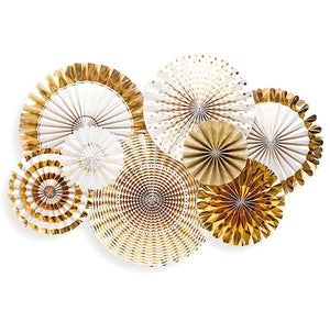 Fancy Gold Party Fans | www.bakerspartyshop.com