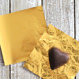 Gold Foil Candy Wrappers | www.bakerspartyshop.com