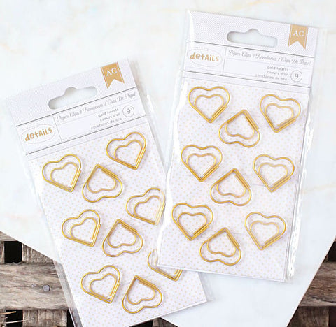 Gold Heart Paper Clips | www.bakerspartyshop.com