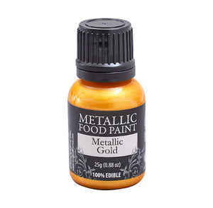 Metallic Food Paint: Gold | www.bakerspartyshop.com