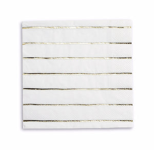 Striped Gold Napkins: Large | www.bakerspartyshop.com