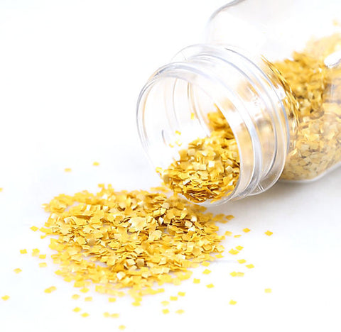 Tiny Square Gold Glitter | www.bakerspartyshop.com