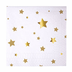 Small Gold Star Napkins | www.bakerspartyshop.com