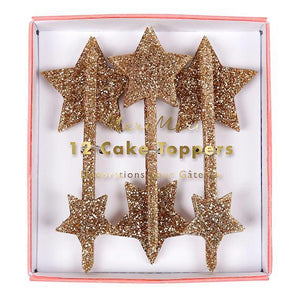 Gold Star Cake Toppers | www.bakerspartyshop.com