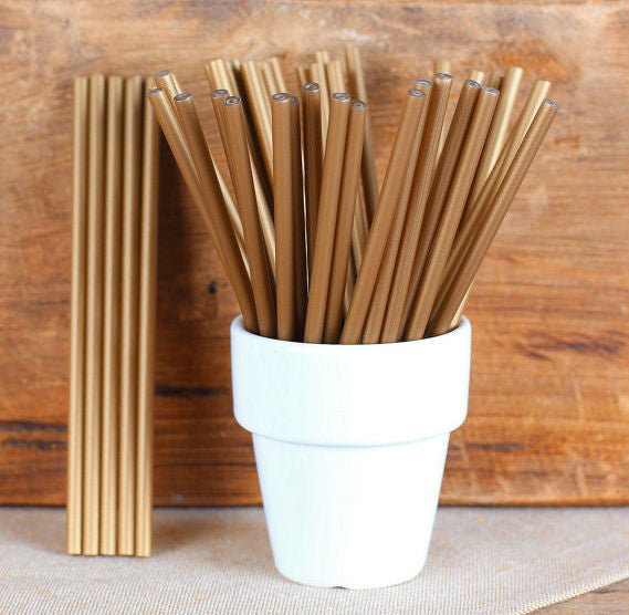"Bulk Gold Lollipop Sticks (4 1/2"") 