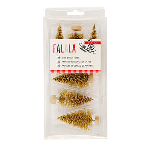 Gold Bottle Brush Trees | www.bakerspartyshop.com