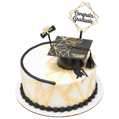 Graduation Cake Toppers Set