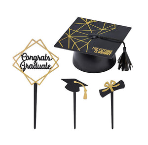 Graduation Cake Toppers Set | www.bakerspartyshop.com