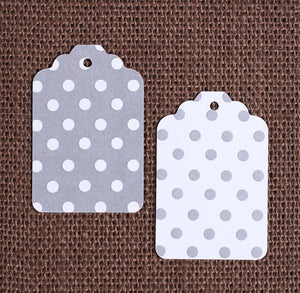 Gray Gift Tags: Polka Dot | www.bakerspartyshop.com