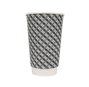 Coffee + Hot Cocoa Cups: Gray Plaid | www.bakerspartyshop.com