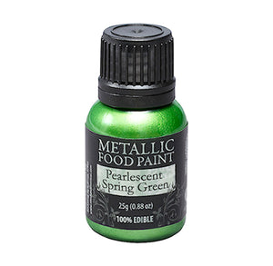 Metallic Food Paint: Spring Green | www.bakerspartyshop.com