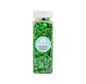 Green Sprinkle Mix by Sweet Tooth Fairy | www.bakerspartyshop.com