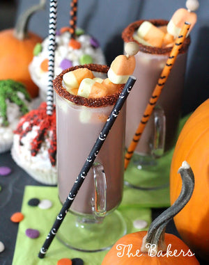 Haunted Halloween Paper Straws | www.bakerspartyshop.com
