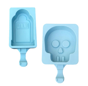 Halloween Cakesicle Molds: Tombstone + Skull | www.bakerspartyshop.com