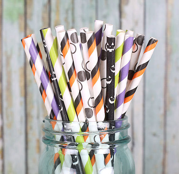 Witches Brew Halloween Paper Straws | www.bakerspartyshop.com
